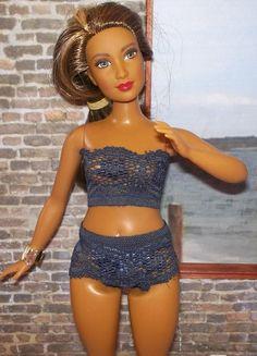 Curvy Barbie Stretch Lace Undies Set in by LammyBabsandFriends