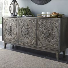 Fair Ridge Console Signature Design in Accent Chests and Cabinets. Transform your living area with the unique style of the Fair Ridge Console by Ashley Furniture. Foyer Decorating, Decorating Ideas, At Home Store, Accent Pieces, Living Room Furniture, Eclectic Furniture, Painted Furniture, Furniture Design, Solid Wood