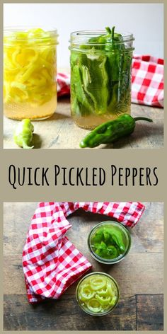 Quick Pickled Peppers are crisp and fresh and take minutes to do. Perfect for when you just need a jar or two for the fridge. And so good on burgers, hot dogs, sandwiches, tacos, salads Great Recipes, Whole Food Recipes, Favorite Recipes, Healthy Recipes, Summer Recipes, Recipe Ideas, Easy Recipes, A Food, Good Food