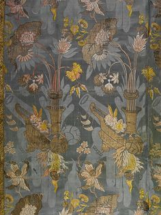 Silk damask brocaded with colored silks and metal threads, Venice, c. 1715. Collection Metropolitan Museum of Art.