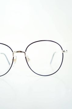 051b57f071 Vintage 1980s Round Black Gold Glasses Hipster Eyeglasses Womens Geek Chic  Nerdy Sexy Librarian Shiny Metallic Indie 80s Eighties