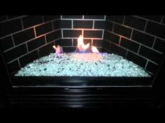 Inspirational Fireplace Glass Rocks Installation