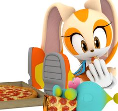 it's not too drastically diffrent from her normal outfit but it's a cute color scheme for the occasion and the rabbit ears on Cheese is so adorabl. Cream The Rabbit Easter Outfit Render Amy Rose, Cream Sonic, Interactive Timeline, Diamond Picture, Sonic Heroes, Nintendo Sega, Happy Easter Everyone, Some Games, Sweet Pic