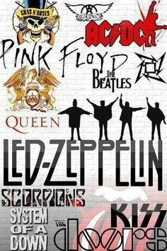Rock & roll bands' graphics:  ac/dc, zeppelin, queen, etc. . Would be cool for a pillow cover, car seat covers & much more!