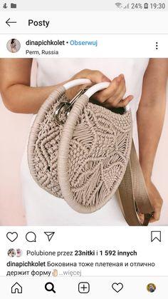 Macrame Bag, Macrame Knots, Micro Macrame, Crotchet Bags, Knitted Bags, Crochet Art, Crochet Stitches, Handbag Patterns, Macrame Projects