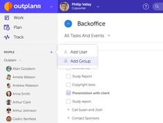 Organising Your Team in Groups: A Group in Outplanr allows you to allocate Projects to specific team members, giving them access only to those projects #teamwork #teammanagement