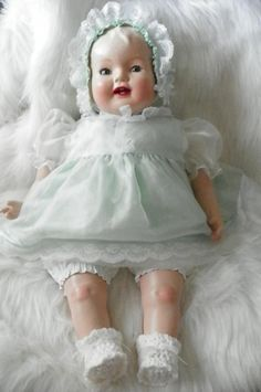 Big Beautiful Happy 1920's Composition Baby Doll  * Beautiful Coloring * | Dolls & Bears, Dolls, By Material | eBay!