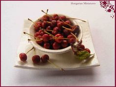 1:12th scale miniature cherries