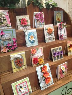 Amazing Creations in the Sizzix Booth with the Susan's Garden Dies.