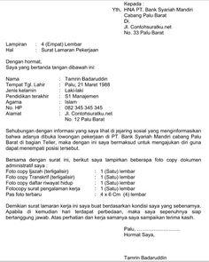 Contoh Surat Lamaran Kerja Bank Syariah Terbaru File Word