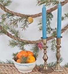 DIY Tutorial: Rope / Rope Garland and Table Runner - Bead&Cord Diy Christmas Tree Garland, Beach Christmas, Christmas Diy, Christmas Decorations, Holiday Decor, Xmas, Diy Tutorial, Table Runners, Diy And Crafts