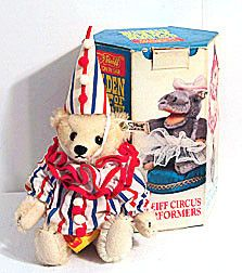 Steiff - Clown Teddy - Ear Tag 0163/20 - Steiff Circus Box