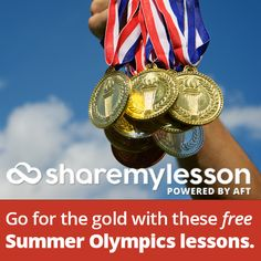 highlighted some free lesson plans, activities and classroom materials that you can use to bring the Olympics into your classroom. Olympic Crafts, Olympic Games, Summer Lesson, Free Lesson Plans, Free Teaching Resources, Summer Games, Free Summer, Holidays And Events, Olympics