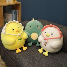 Kawaii Therapy Chubby Chicken Plush - Limited Edition - KawaiiTherapy Kawaii Plush, Dinosaur Stuffed Animal, Therapy, Chicken, Toys, Animals, Activity Toys, Animales, Animaux