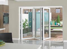 Supreme Aluminium Bi-fold Doors 9ft White » Vufold