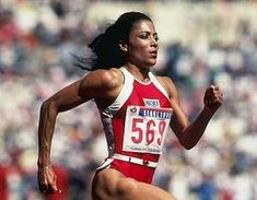 """Olympic Trials Throwback: In 1988 in good ol' Indianapolis, Indiana, Florence Griffith Joyner, Flo Jo, set both the and the former being the current American Record. Flo Jo, 2004 Olympics, Summer Olympics, American Athletes, Female Athletes, Fit Black Women, Fit Women, Black Girls, Florence Griffith Joyner"