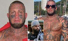 Heavily tattooed Bikie 'Kaos' converts to ISLAM inside prison Biker Clubs, Motorcycle Clubs, Police Love, Mongrel, Hells Angels, Face Tattoos, Pro Life, Prison, Baddies