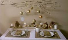 white and gold christmas - Google Search