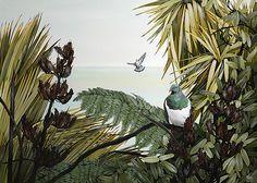 Kirsty Nixon New Zealand contemporary landscape artist, detailed realist paintings, Rangitoto, NZ beach scenes, coastal New Zealand Art, Nz Art, Little River, Contemporary Landscape, Beach Scenes, Beach Pictures, Beautiful Birds, Art Inspo, Fine Art Prints