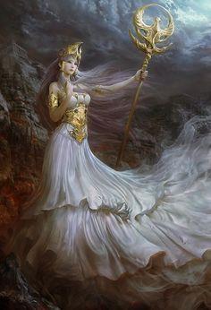 Athena, Greek goddess of wisdom and battle strategy