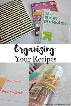Organizing Your Recipes