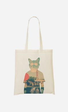 Tote Bag Cool Cat by Ali Gulec - Wooop.fr