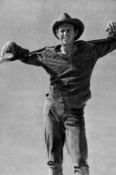 Steve McQueen, 1960s, as Nevada Smith.  Didn't make many westerns, although he made his breakthrough in Wanted Dead or Alive on television and in The Magnificent Seven on the big screen.  He seemed like a natural for them.
