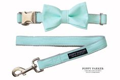 Mint Layered Dog Bow Tie For Dog With Options by Poppy Parker
