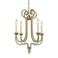 Candice Olson 6773-4H Candice Olson 4 Light Chandelier, Soft Gold