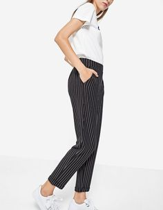 At Stradivarius you'll find 1 Knit carrot fit trousers for just 5595 Hungary . Visit now to discover this and more Special prices.