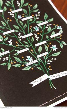Modern Family Tree Printable!  Stationery & design: Bells & Whistles Stationery