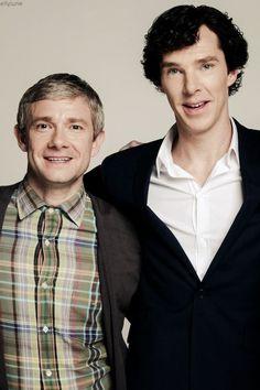 John Watson - Martin Freeman and Sherlock Holmes - Benedict Cumberbatch