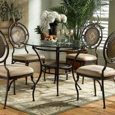 "L Powell Basil ""Antique Brown"" Dining...     $129.00"