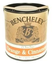 Bencheley Orange n Spice Tea in a stay fresh tin containing 25 bags