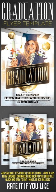 Simple Graduation Invitation Flyer Templates   Flyer