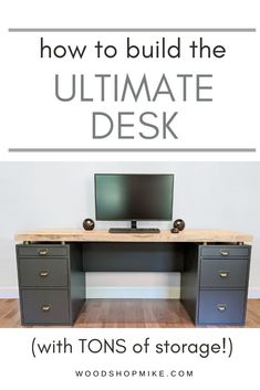 Would you believe there's a printer, file drawer, CPU, laptop, sketching tablet, plus MORE hidden inside this desk?  Watch how Woodshop Mike created this ultimate desk using plywood and solid ambrosia maple to take on a vintage/modern blend of styles.  Then, grab the FREE plans from www.buildsomething.com and get started making your own!  #vintagedesk #desk #computerdesk #moderndesk #moderndeisgn #diydesk #freeplans #freedeskplans #woodworkingplans #woodworkingvideo #woodendesk #diyfurniture Woodworking Videos, Woodworking Plans, Woodworking Projects, Diy Projects, Diy Furniture Plans, Furniture Design, Hidden Desk, Woodworking Inspiration, Desk Plans