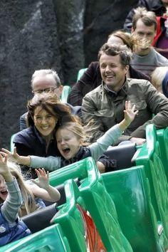 Princess Mary of Denamark with Princess Isabella and Prince Frederick - royal couple having fun