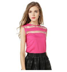 2016 New Fashion Summer Hot Style Ladies Patchwork Apparent Sleeveless Chiffon Female Tops Elegant Casual Femininas Camis #Affiliate