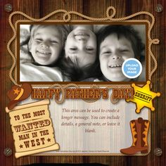 Say Howdy Dad! with this #Western Themed Father's Day eCard by HoneyBops on Pingg $10