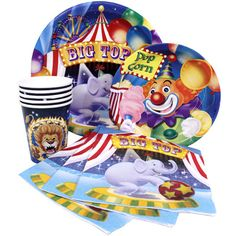 Big Top Circus Party Supplies-Napkins Plates Cups