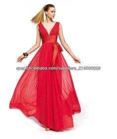 Envío libre profundo escote en V hasta el suelo a medida rojo 2013 vestidos de dama de honor CWFXb13-Vestidos de dama de honor -Identificación del producto:300000165955-spanish.alibaba.com