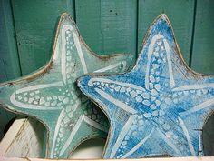 Wood Starfish Sign Wall Art Starfish Star Sign Beach House Decor Art