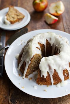 Whole Wheat Honey Apple Bundt Cake - Pinch of Yum