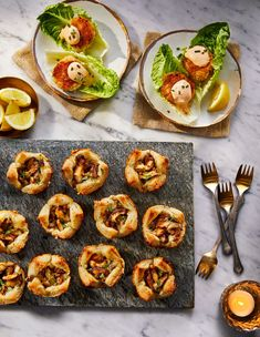 Enjoy these classic Mardi Gras Recipes. You don't have to visit the Big Easy to celebrate with these Mardi Gras appetizers, Mardi Gras desserts, and more. Mardi Gras Appetizers, Mini Appetizers, Appetizers For A Crowd, Seafood Appetizers, Thanksgiving Appetizers, Seafood Recipes, Appetizer Recipes, Healthy Appetizers, Appetizer Plates