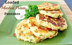 Loaded Mashed Potato Pancakes recipe