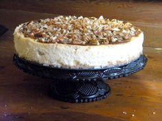 Southern Style Banana Pudding Cheesecake w/ Bourbon Maple Pecan Glaze