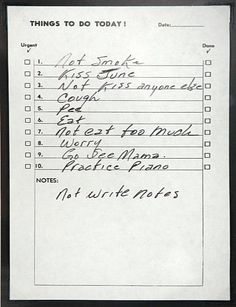 Johnny Cash's Notes