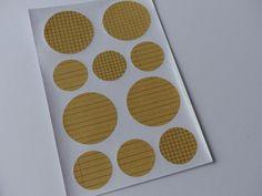 40 Kraftpapier Aufkleber Sticker Etiketten kariert von frau zwerg auf DaWanda.com