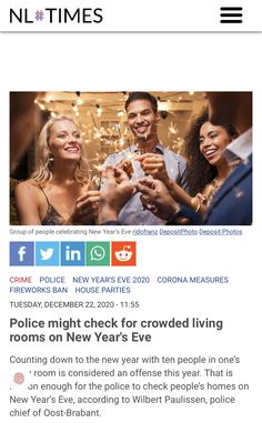 New Year's Eve 2020, National Police, Police Chief, New Years Eve, House Party, Amsterdam, News, People, Home Parties