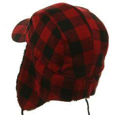 Red Wool Vintage Hunting Cap - Lake of the Isles Hunting Cap   See ...
